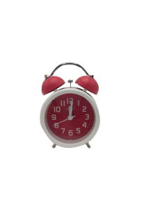 Quartz Horloge -Fashion Clock Serie - Rouge et blanc
